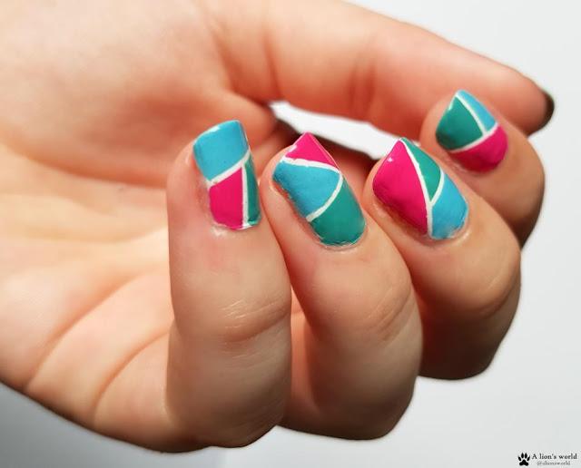 Color Blocking Nails