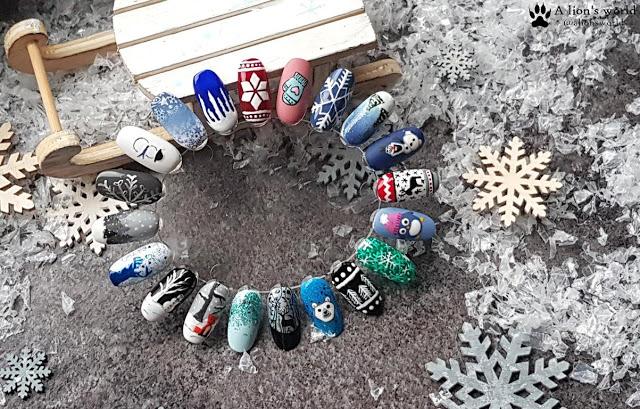 Winterdesigns für die Nägel